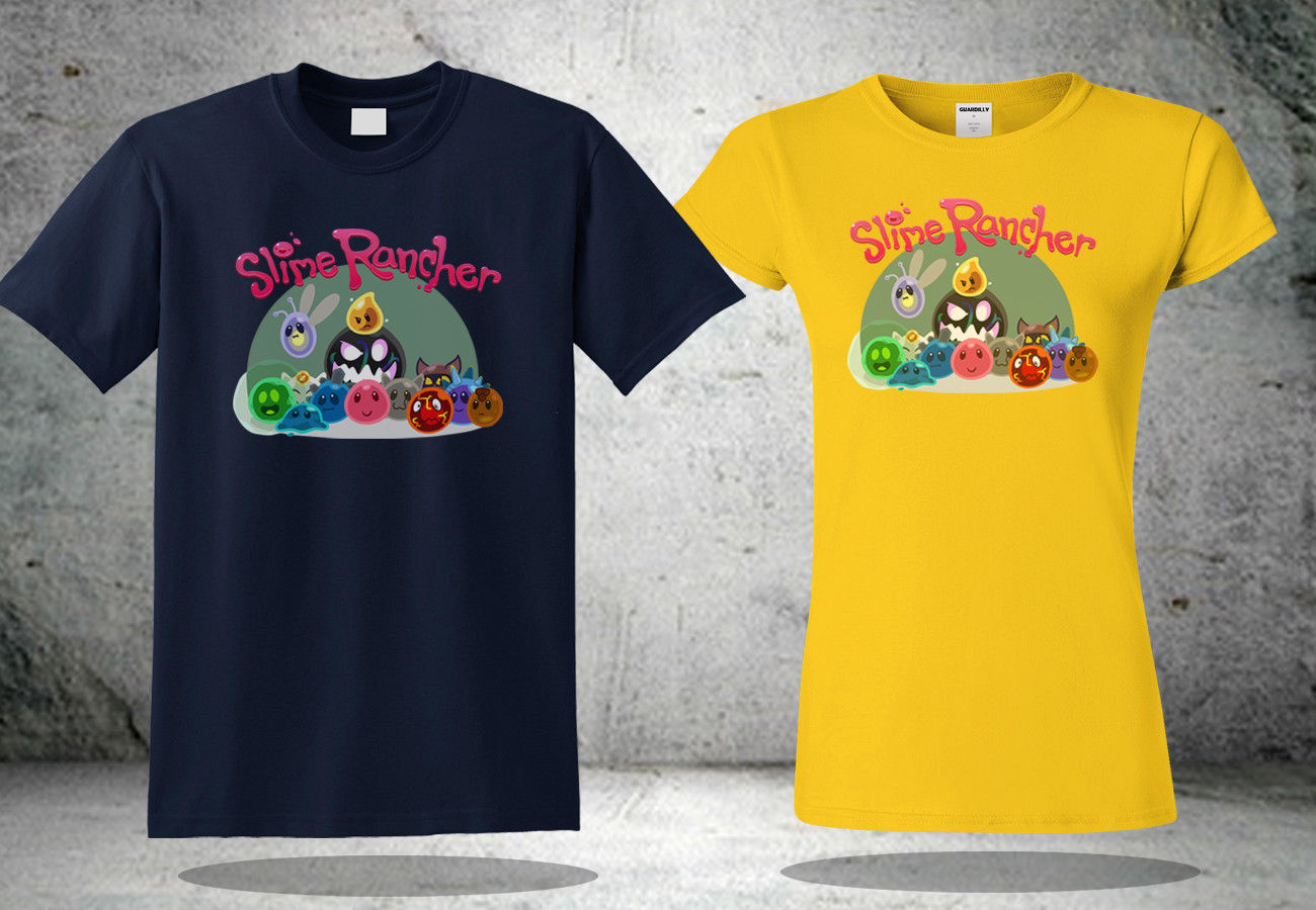 <font><b>Slime</b></font> <font><b>Rancher</b></font> Cotton <font><b>Slimes</b></font> T-<font><b>Shirt</b></font> Navy&Yellow Cool <font><b>Shirt</b></font> New pride t <font><b>shirt</b></font> Unisex New Fashion tshirt Men Woman Hoodie image
