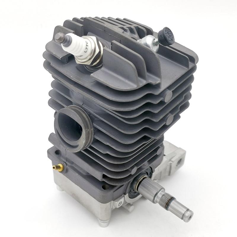 46 мм и 49 мм цилиндр поршня коленчатого вала двигателя сковорода Базовый комплект подходит для Stihl MS390 MS290 MS310 039 029 бензопила двигателя части д...