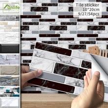 Funlife®Pegatina de pared de ladrillo de piedra de 20x10cm pegatinas de azulejo de PVC autoadhesivas impermeables para decoración del hogar de Camper de cocina y baño