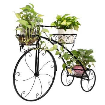 Bike Design Wrought Iron Flower Shelf 4 Tier Shelves For Indoor Outdoor Plant Flower Stand Holder Rack For Multiple Plants Buy At The Price Of 17 86 In Aliexpress Com Imall Com