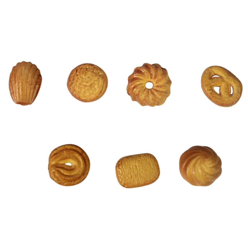 7pcs Mini Food Bread Ornament Miniature Dollhouse Decor Doll House Accessories Fake Croissant Home Craft