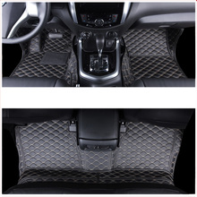 lsrtw2017 fiber leather car interior floor mat for nissan terra 2018 2019 2020 styling accessories stickers
