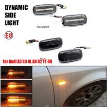 2Pcs For Audi A3 S3 8L 2000 2003 A8 D2 1999 2002 TT 8N 2000 2006 Amber Yellow Side Marker Turn Signal Light Blinker Light