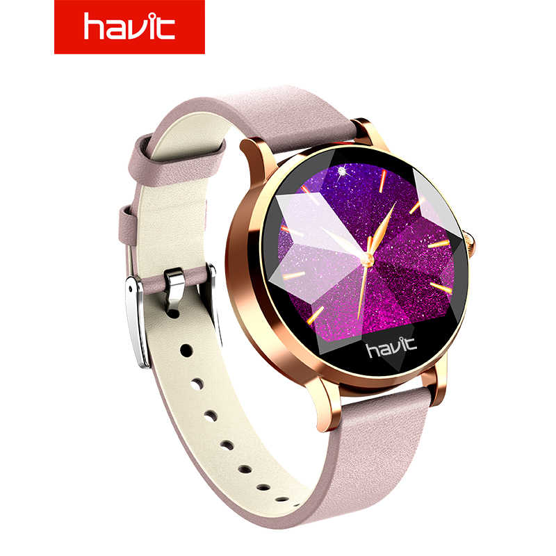 Havit SW05 Smart Bracelet Band dengan Denyut Jantung Monitor EKG Tekanan Darah Kebugaran Berenang Facebook Wanita Fashion Smart Watch