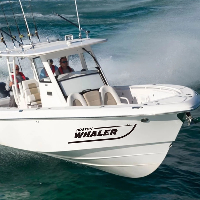 Decals Sticker For Boston Whaler Boat Art Decor , Removable Waterproof Decal For Boston Whaler Boat Decoration