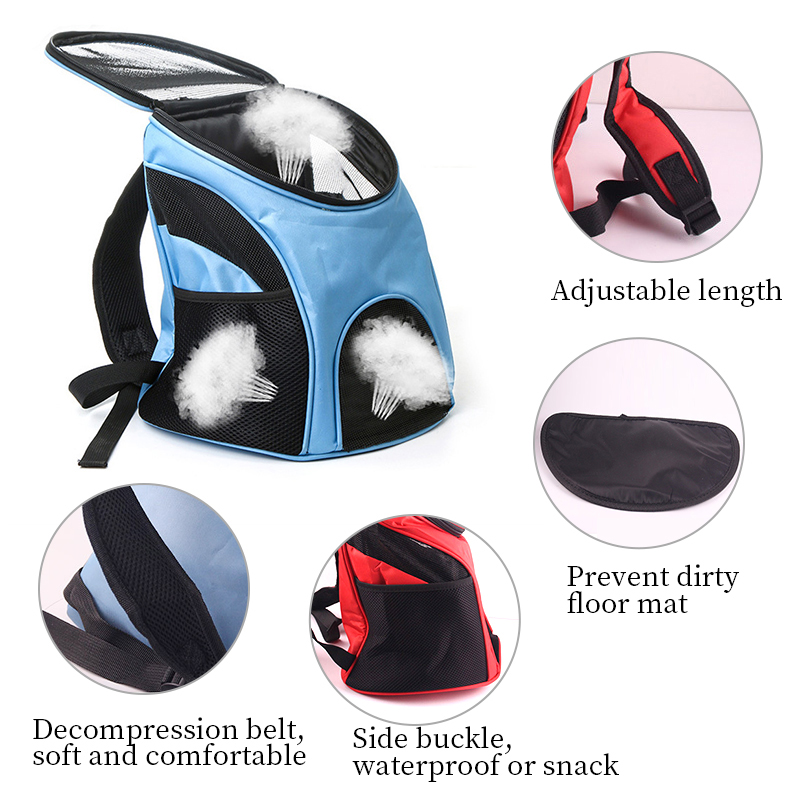 Petshy Portable Pet Carrier Bag Dog Cat Backpack Outdoor Travel Puppy Cat Bag Transporter Box Case Small Dog Pet Carrying Case