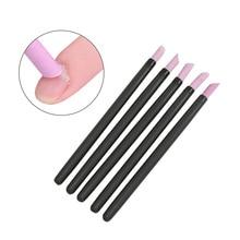 5Pcs Scrub Cuticle Remover Pen Nail File Set Quartz Stone Polish Pusher Trimmer Tool For Nails Art Manicure Tool Kit недорого