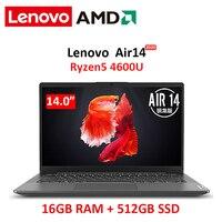 Lenovo ar 14 computador portátil ryzen 5 4600u 16gb ram 512gb nvme ssd 14 polegada computador portátil portátil portátil portátil ultra-fino fhd ips tela