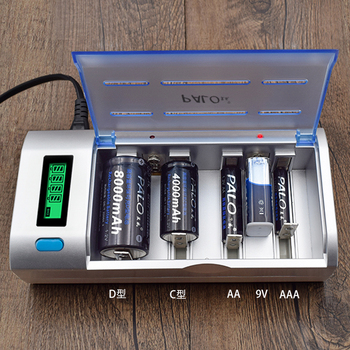 PALO Smart LCD Display AA AAA C D 9V Battery Charger Quick Charge Fast Discharge For Ni-MH NI-CD AA AAA C D Size 9V bateria