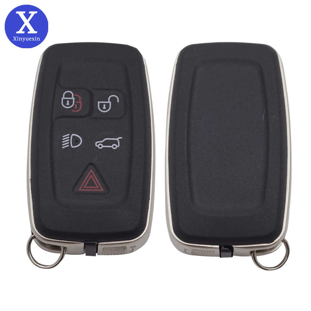 Xinyuexin Voor Landrover Discovery 4 Sport Freelander Autosleutel Shell Smart Remote Fob Cover Case 5 Knop Keyless Entry Accessorie
