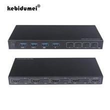 2/4 портов HDMI KVM переключатель 4 в 1 HDMI Тип C переключатель сплиттер для совместного использования монитора клавиатуры мыши Адаптивная поддерж...