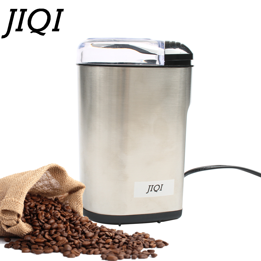 JIQI Multifunction Household Electric Coffee Grinder Stainless Steel Bean Spice Maker Grinding Machine Rapid Coffee Mill