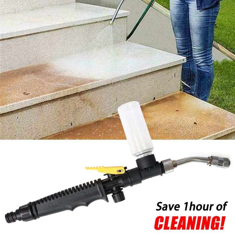 High-pressure Adjustable Water Gun Fog Nursery Sprinkler Watering Vegetable Spray Gun With Foam Bottle Garden Supplies