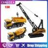 1:50 Huina Toy Diecast Crawler Alloy Crane Loader Dumper Truck Car Model Engineering Vehicle Caterpillar Collection Toy Kids Boy