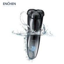 ENCHEN Blackstone3 rasoir électrique 3D Triple lame flottant rasoir Machine de rasage lavable USB Rechargeable tondeuse à barbe nouveau