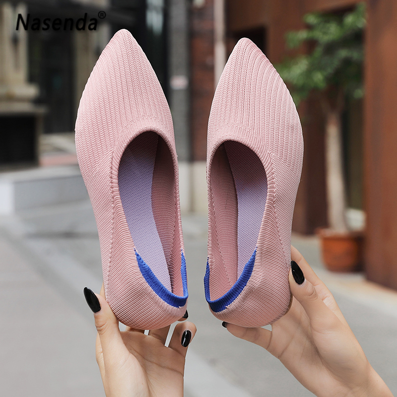Ladies Work Shoes Fashion Women Flats Slip on Shoes Black Color Woman Boat Shoes Ladies Shallow Ballet Flats Female Footwear 40