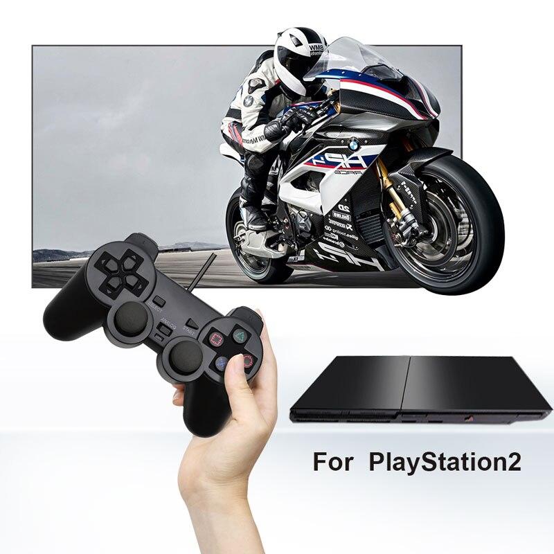 Para sony ps2 controlador com fio gamepad para playstation 2 console joystick dupla vibração choque joypad com fio controle