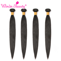 Peruvian Straight Hair Bundles Wonder Beauty 100% Human Hair Natural Black 8 30 inches Non Remy Hair Extension 3 or 4 Piece