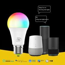 E27 Magic music bulb,Wifi smart home automatic light bulb,compatible for Alexa Google Home Siri IFTTT,RGB Dimmable WiFi LED Bulb