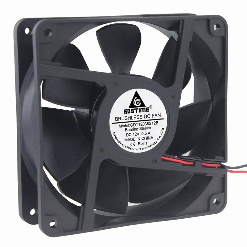 Big Airflow 12V Ball 120mm 120x38mm DC 1A Cooling Fan Computer CPU Case Cooler