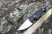 Best straight knife  Pocket 9Cr18mov Blade G10 Handle Outdoor Camping Hunting Survival cuchillo tactico militar Knife EDC