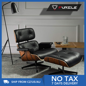 Furgle Modern Classic Replica Lounge Chair with ottoman chaise furniture real leather Swivel Chair Leisure for living room hotel 1