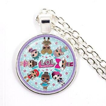 Fashion Cute Pretty Girls Minnie Style Kids 25mm Glass Dome Cabochon Necklace Kawaii Sweater Chain Jewelry Gift For Women Girls 1