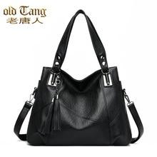OLD TANG Shoulder Messenger Bags For Women 2020 Luxury Ladies Handbag Large Shopper Totes Designer Soft Leather Bag Sac A Main