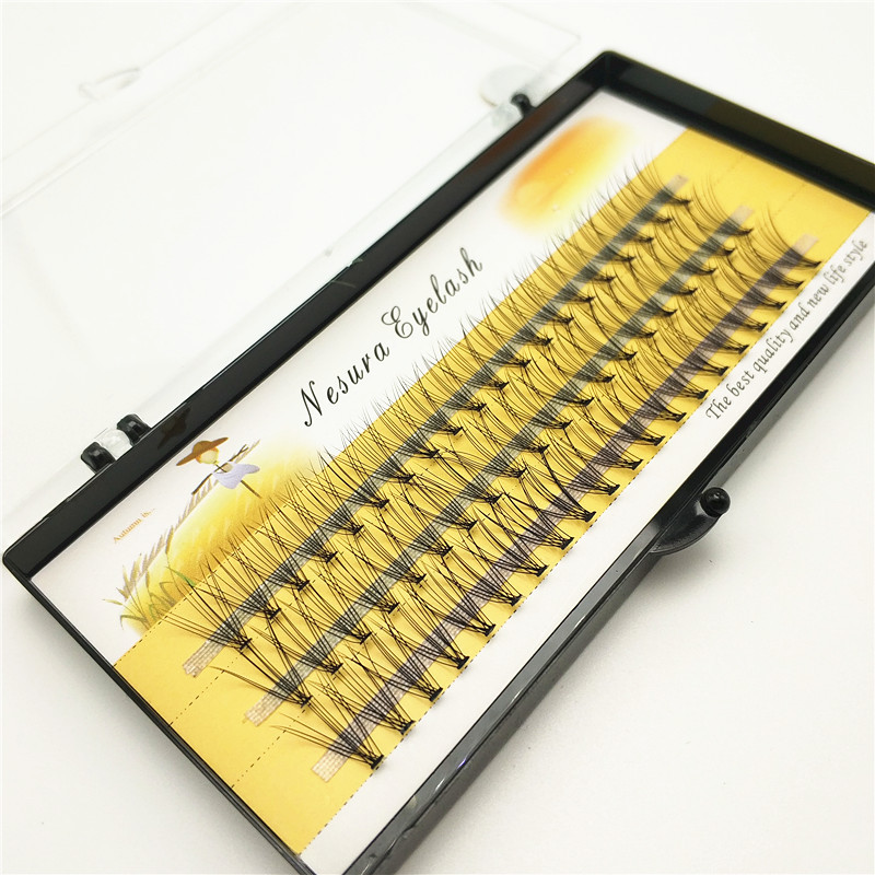 Пучки ресниц для наращивания, 1 упаковка/60 пучков