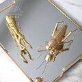 Nórdico moderno locust insetos pequenos animais criativo ornamentos decorativos de metal pequeno designer de mobiliário decoração suave
