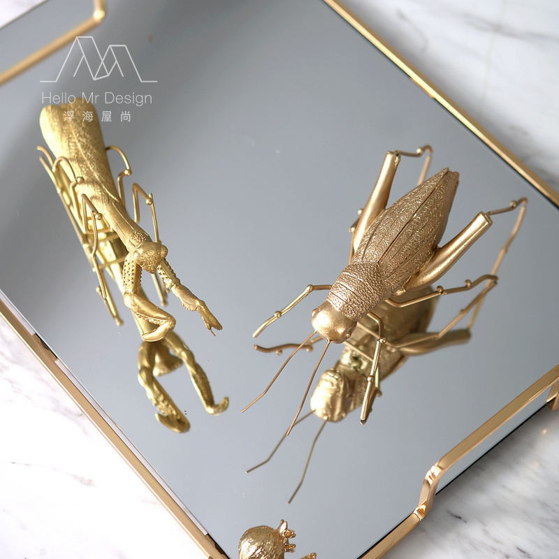 Nordic Modern Insects Small Animals Creative Decorative Ornaments Locust Metal Small Furnishings Designer Soft Decoration