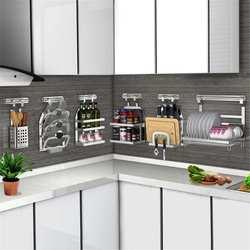 3 camada de aço inoxidável rack cozinha multifuncional prato copo cutler escorredor prateleira armazenamento organizador titular para cozinha