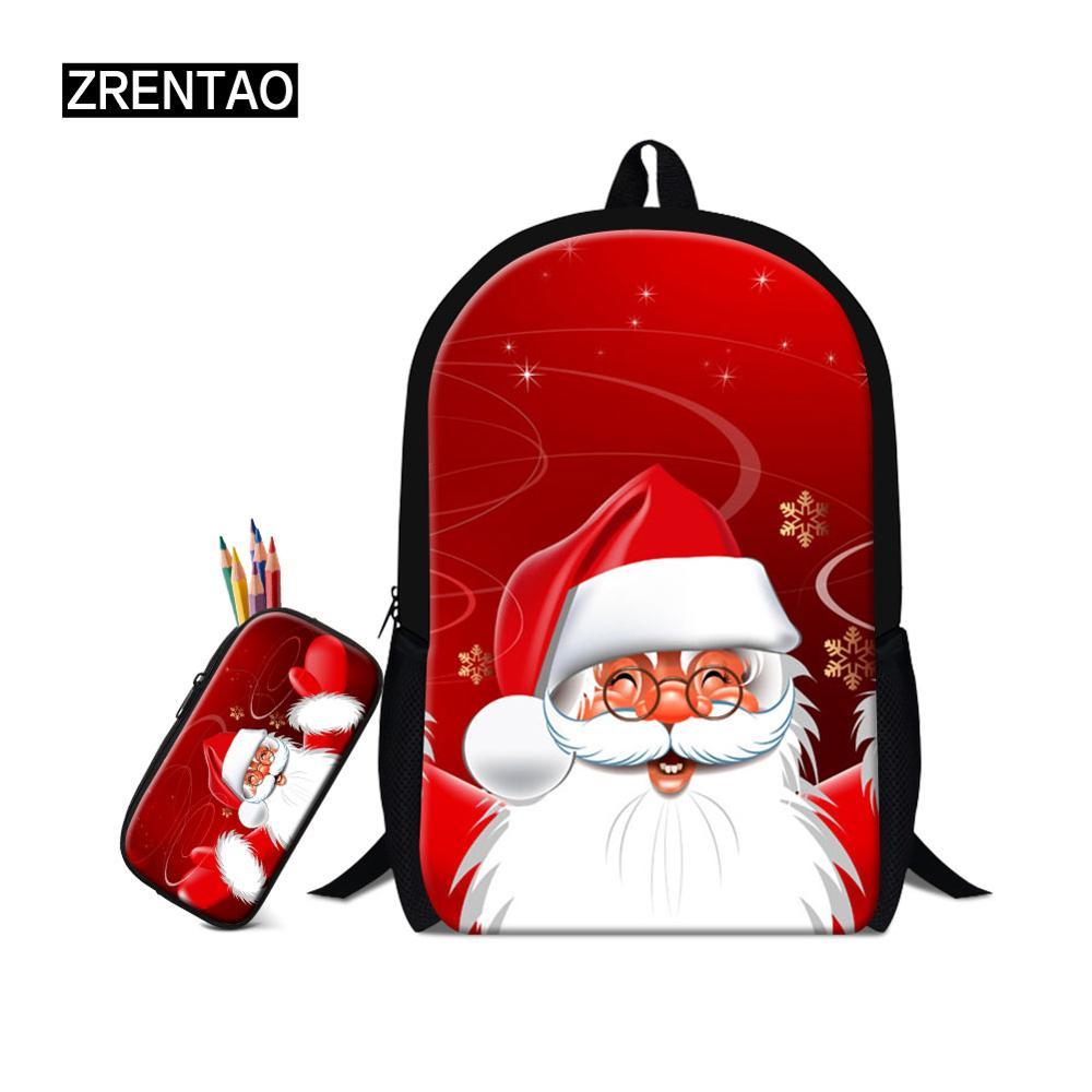 Подарки на Рождество, школьная сумка, набор для школьника, школьников, детей, легкий школьный ранец на плечо, красный/черный/синий