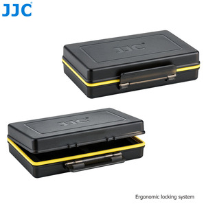 Image 5 - JJC Camera Battery Box Memory Card Case Holder Storage for SD SDHC SDXC MSD Micro SD MicroSD XQD CF Cards AA Battery for DSLR