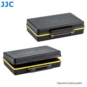 Image 5 - JJC מצלמה סוללה תיבת זיכרון כרטיס מקרה מחזיק אחסון עבור SD SDHC SDXC MSD מיקרו SD MicroSD XQD כרטיסי CF AA סוללה עבור DSLR