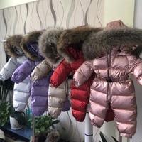 Baby Jumpsuit Silver Gold Winter Coats Children's Brand Jacket for Girls Clothing Boys Snowsuit Infant Snowsuit Kids Romper