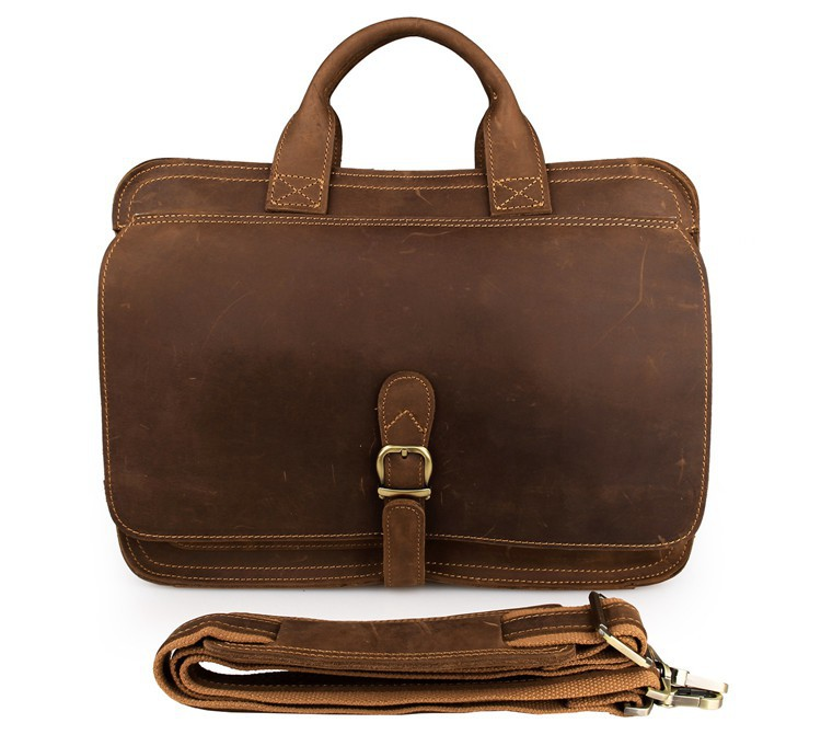 H3fdaf6691e2f451fa11bfe71784fdee1p MAHEU Vintage Leather Mens Briefcase With Pockets Cowhide Bag On Business Suitcase Crazy Horse Leather Laptop Bags 2019 Design