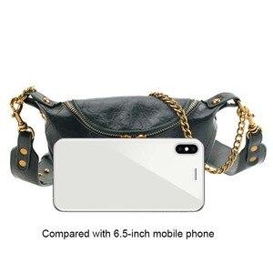 Image 5 - Moda qualidade couro do plutônio crossbody sacos para as mulheres 2021 corrente ombro pequeno simples saco senhora bolsas de viagem e bolsas