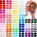 10 шт./лот сплошной цвет корсажная лента с бантом для детей заколки для волос ручной работы с бантом для маленьких девочек заколки челка зако...