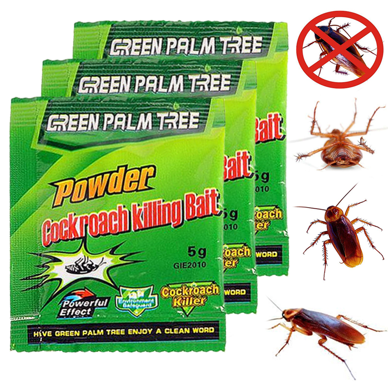1Pac Green Leaf Powder Cockroach Kill Bait Insecticide Repellent Russian Roach Killer Repeller Trap Pest Control Powd Dropship