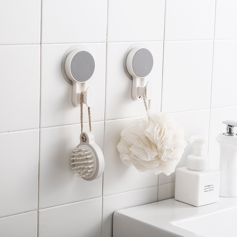 3Pcs Adhesive Hook Hanger Wall Mounted Strong Sticker Traceless For Bathroom Kitchen Refrigerator Organizer
