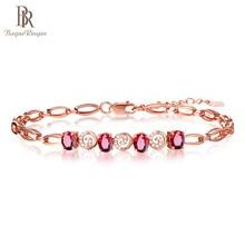 Bague Ringen, роскошный браслет с драгоценным камнем для женщин, серебро 925, ювелирное изделие, голубь, красный рубин, розовое золото, вечерние, для банкета