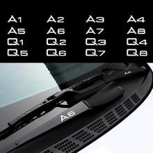 Para Audi A1 A2 A3 A4 A5 A6 A7 A8 Q1 Q2 Q3 Q4 Q5 Q6 Q7 Q8 Maçaneta Da Porta Do Carro Decalque Espelho Adesivos Decalques Do Corpo Do Carro Do Limpador Acessórios