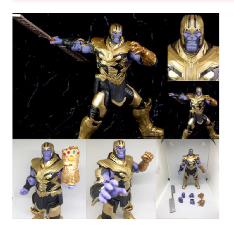 7.2 inch Marvel Avengers 4 Endgame Thanos SHF Figuarts Action Figure Infinity Gauntlet Toys Doll for Christmas Gift image