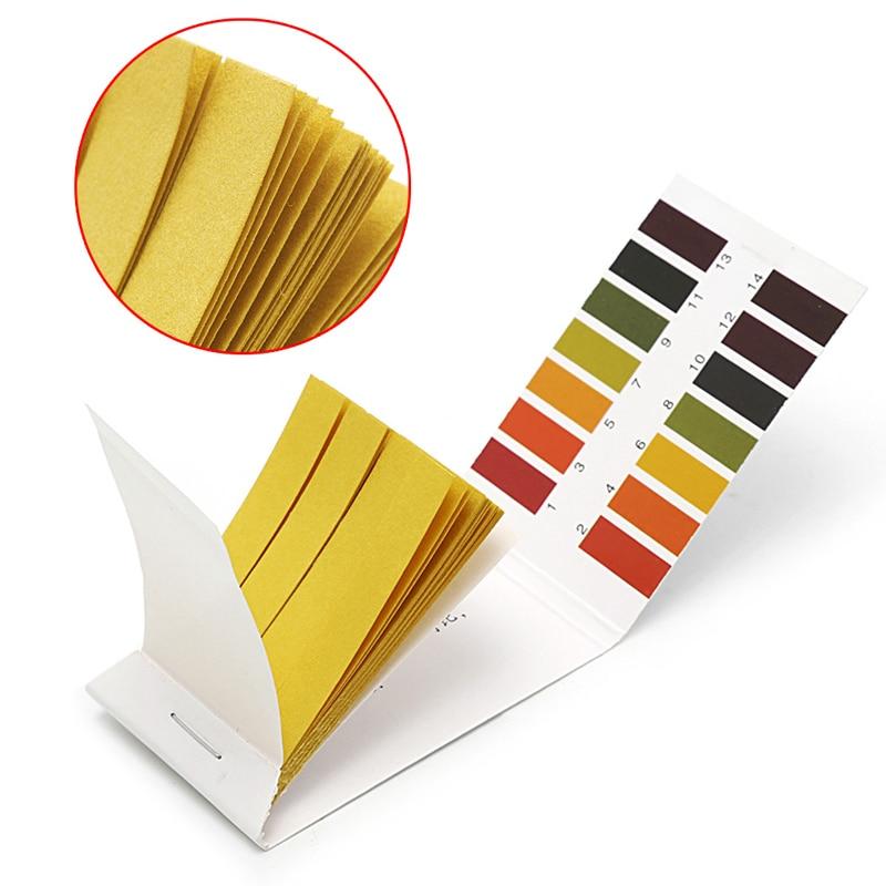 Новинка 2020, измеритель PH-бумаги, полный pH 1-14 тестовый индикатор, лакмусовый тест, тест-комплект, 2 упаковки, 80 полосок, Прямая поставка