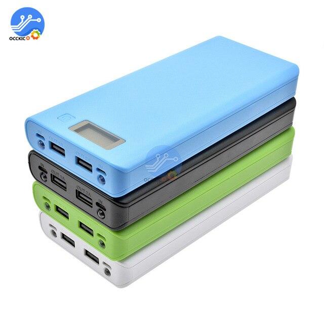 8x18650 Caixa de Bateria Carregador De Banco de Potência Titular Caso Reservatório de Plástico DIY Kit 18650 LCD Display Celular Porta USB sem Bateria