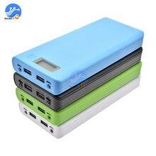 8x18650 Pin Box Bank Giá Đỡ Vỏ Nhựa Ốp Lưng DIY Bộ 18650 Tế Bào MÀN HÌNH Hiển Thị LCD Cổng USB không cần Pin