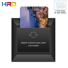 13.56MHz M1 220V 30A RFID Card Switch Black Luxury Hotel Energy Saver Guest Room Power Saving Switch Insert Card to Take Power 13 56mhz hotel guest room card hotel card key energy saving switch for hotel saving power delay off time