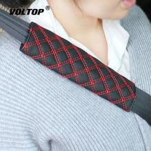 2pcs חגורת בטיחות כיסוי חגורת בטיחות כתף רצועת כיסוי רתם רפידות ילדי הגנת רכב מכסה כרית מכונית