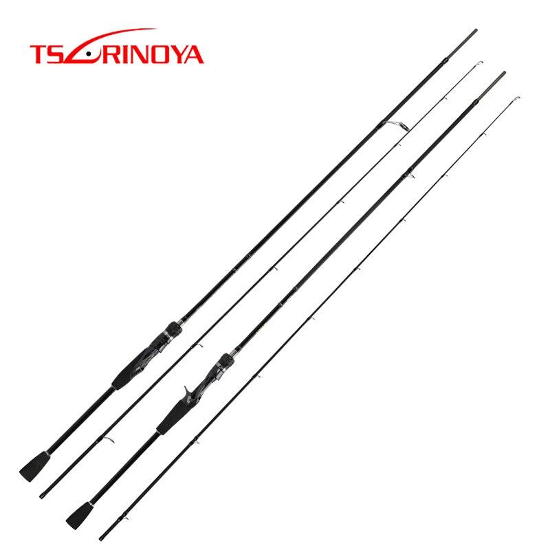 TSURINOYA Fishing Rod WOLF Baitcasting Spinning Carbon Bass Rod ML Power High Sensitivity 1.98m 2.09m 2.2m 2.28m FUJI Guide
